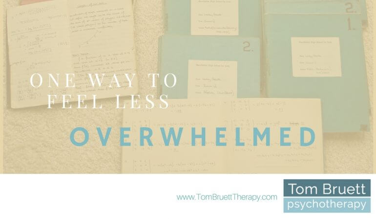 feel less overwhelmed this week