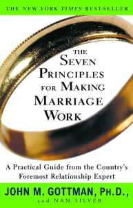 Seven principals for making marriage work- John Gottman- books for couples