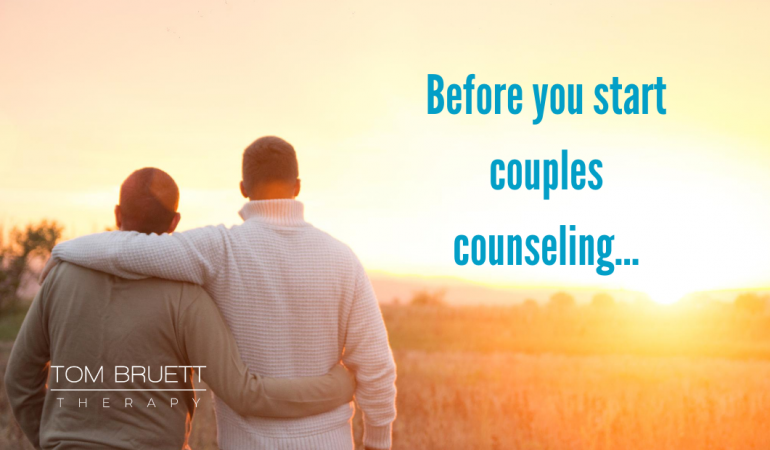 Before you start couples counseling