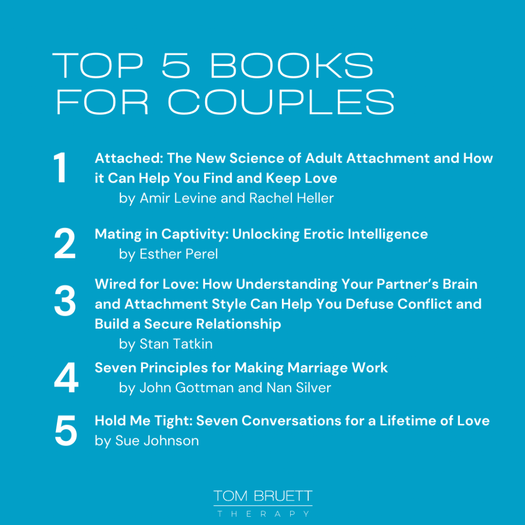 top five books for couples to read together- marriage counseling denver colorado