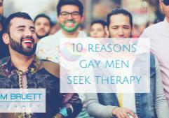 reasons gay men seek therapy